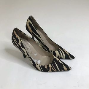 Guess Heels Women Size 9m Animal Print